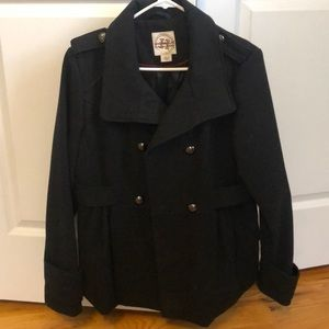 Macy's black pea coat